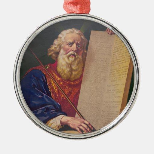 El gran legislador Moses con los diez mandamientos Ornatos