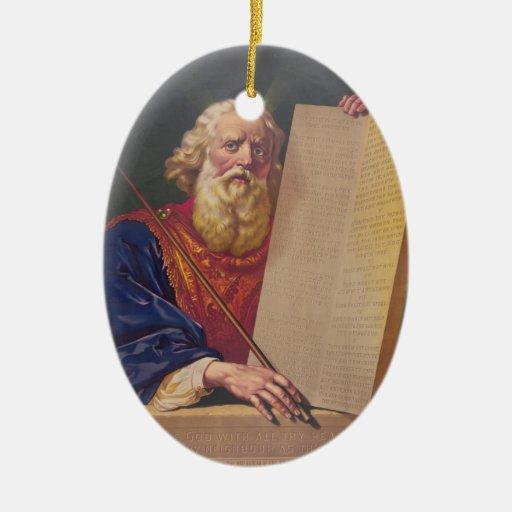 El gran legislador Moses con los diez mandamientos Ornamento De Reyes Magos