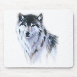 El gran lobo feroz en toda la gloria tapete de ratones