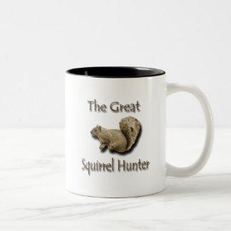 El gran marrón del cazador de la ardilla taza dos tonos
