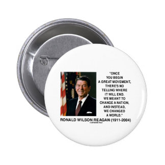 El gran movimiento de Ronald Reagan cambió un Pin