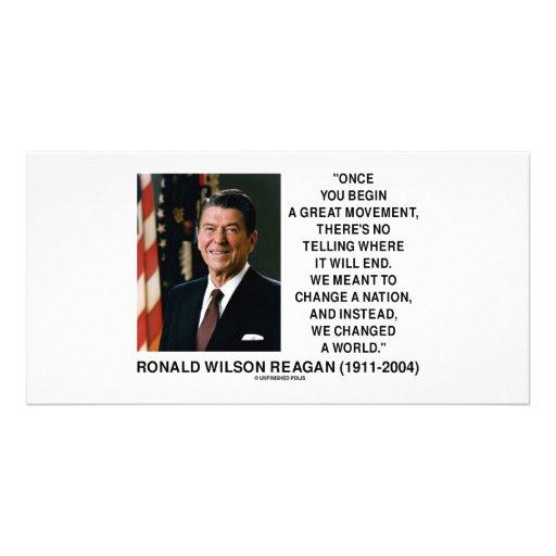 El gran movimiento de Ronald Reagan cambió una Plantilla Para Tarjeta De Foto