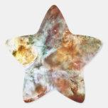 El gran nacimiento de la estrella de la nebulosa N Calcomanía Forma De Estrella Personalizada