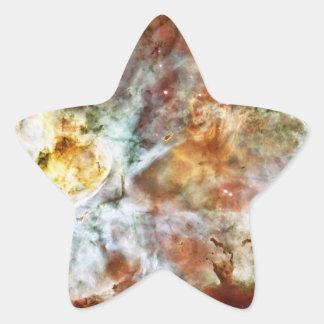 El gran nacimiento de la estrella de la nebulosa pegatina en forma de estrella