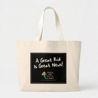 """El """"gran niño es bolso de las grandes noticias"""" bolsa tela grande"""