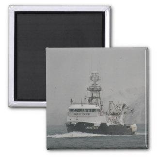 El gran Pacífico, pescando el barco rastreador en  Iman De Frigorífico