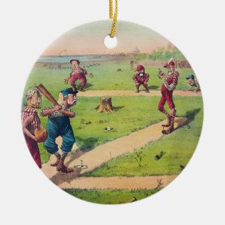 El gran partido nacional del último del juego de l ornamentos de navidad