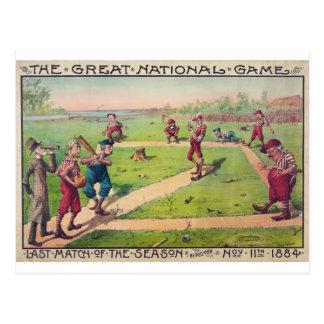 El gran partido nacional del último del juego de l tarjeta postal