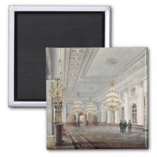 El gran pasillo, palacio del invierno, St Petersbu Imán Cuadrado