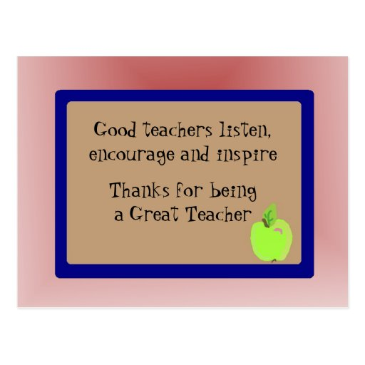 El gran profesor le agradece postales