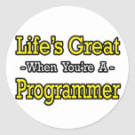El gran… programador de la vida etiqueta redonda