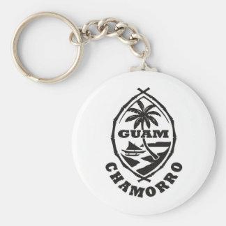 El gran sello de Guam Llavero Redondo Tipo Pin