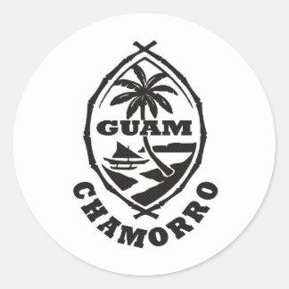 El gran sello de Guam Etiqueta Redonda