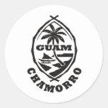 El gran sello de Guam Pegatina Redonda