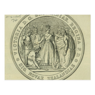 El gran sello de Nueva Zelanda Postal