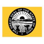 el gran sello de Ohio Postales
