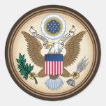 El gran sello (original) pegatina redonda