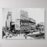 El gran teatro Broadway Nueva York de Ziegfeld Ast Póster