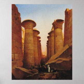 El gran templo de Amun en Karnak Póster