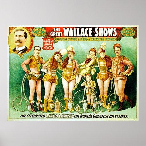 El gran Wallace muestra el cartel del circo del vi Poster