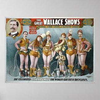 El gran Wallace muestra el poster del circo del vi Póster