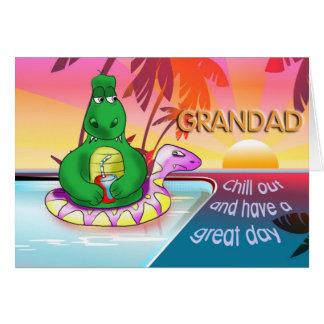 el grandad se enfría hacia fuera tarjeta de felicitación
