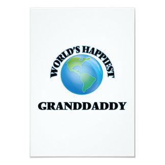"""El Granddaddy más feliz del mundo Invitación 3.5"""" X 5"""""""