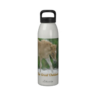 El grande al aire libre: Caballo de Assateague Botella De Beber