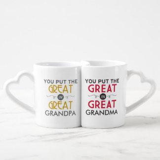El grande en grande - abuelos set de tazas de café