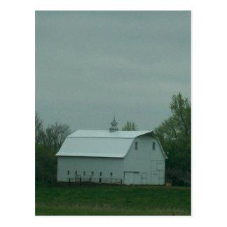 El granero blanco tarjetas postales