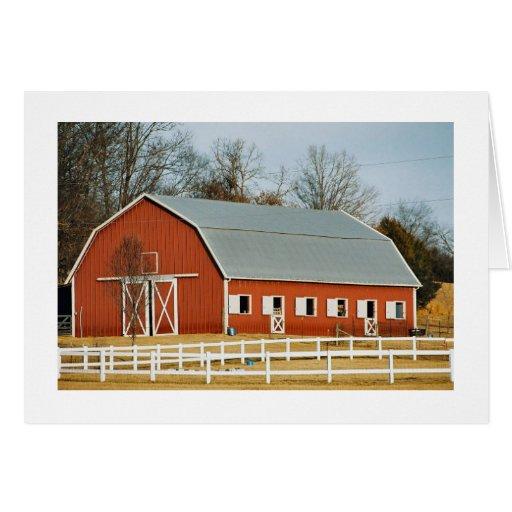 El granero es mi lugar feliz felicitacion