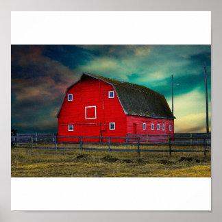 El granero rojo póster