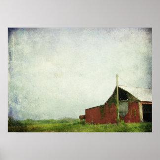 El granero rojo viejo posters