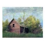 El granero viejo tarjeta postal