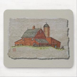 El granero y el ganado canalizan mouse pad