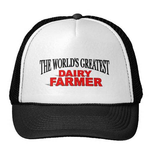 El granjero de la lechería más grande del mundo gorro