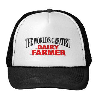 El granjero de la lechería más grande del mundo gorros