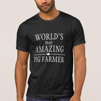 El granjero del cerdo más asombroso del mundo playeras