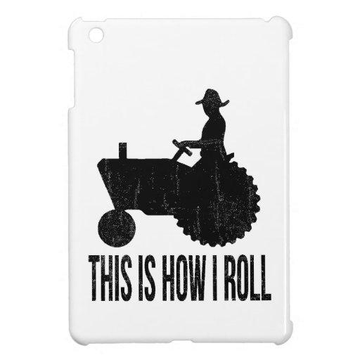 El granjero en el tractor esto es cómo RUEDO iPad Mini Fundas