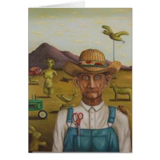 El granjero excéntrico tarjeta pequeña