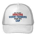 El granjero más asombroso del gusano del mundo gorra