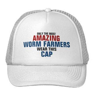 El granjero más asombroso del gusano del mundo gorras