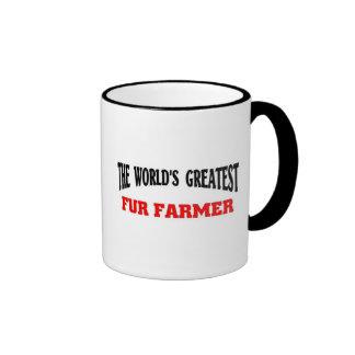 El granjero más grande de la piel taza a dos colores