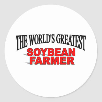El granjero más grande de la soja del mundo pegatina redonda