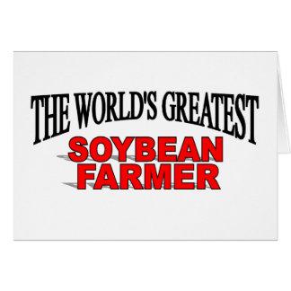 El granjero más grande de la soja del mundo tarjeta de felicitación