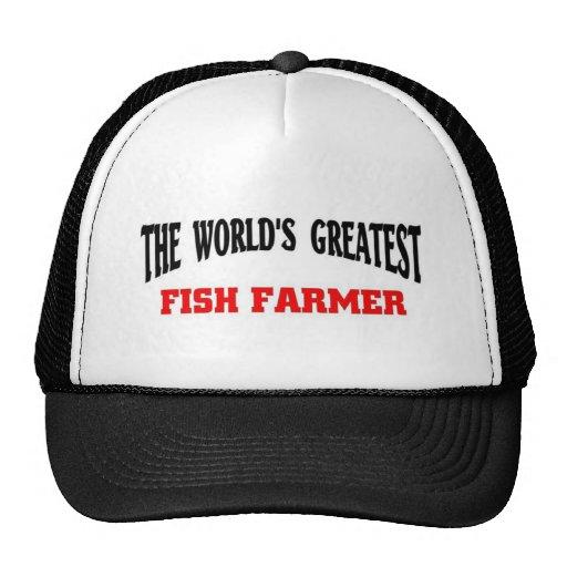 El granjero más grande de los pescados gorro