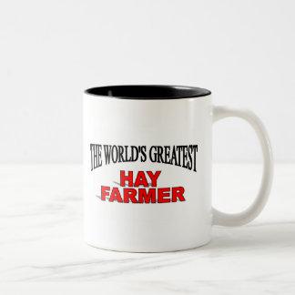 El granjero más grande del heno del mundo taza