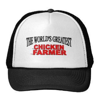 El granjero más grande del pollo del mundo gorro de camionero