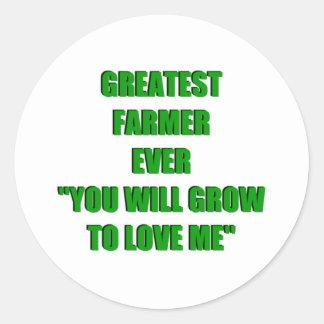 El granjero más grande nunca etiqueta