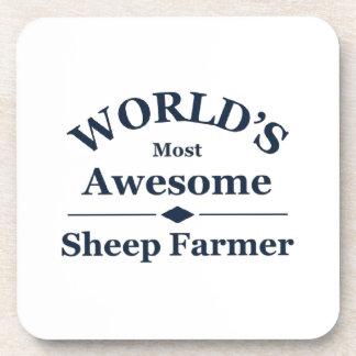 El granjero más impresionante de las ovejas del mu posavasos de bebida